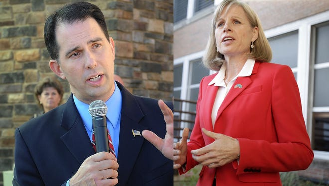 Gov. Scott Walker and Mary Burke will square off in the Nov. 4 election.