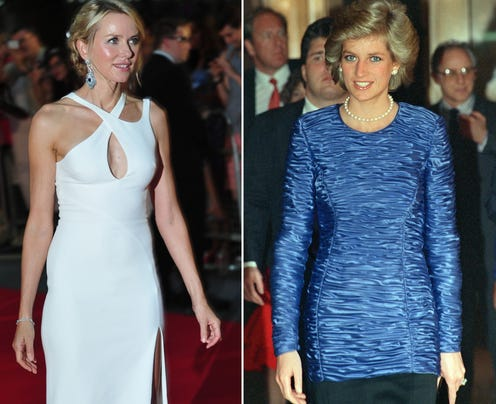 Naomi Watts and Princess Diana