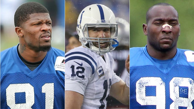 Andre Johnson is a fascinating new Colt; is Andrew Luck the best  quarterback in the NFL? Robert Mathis is trying to return from a severe injury.