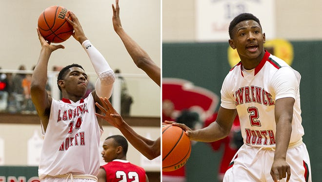 Lawrence North's Kevin Easley (left) and Antwaan Cushingberry (right) have enjoyed a strong summer.