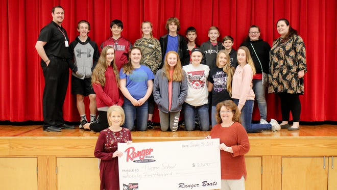 This year, Ranger Boats has given the Flippin Middle School $2,500 toward Project Marine Discovery to help with the scholarships and extra costs.