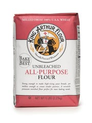 A bag of King Arthur Flour all-purpose flour.