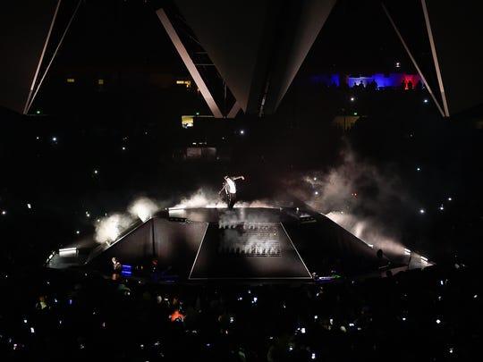 Jay-Z performs at Bridgestone Arena in Nashville, Tenn.,
