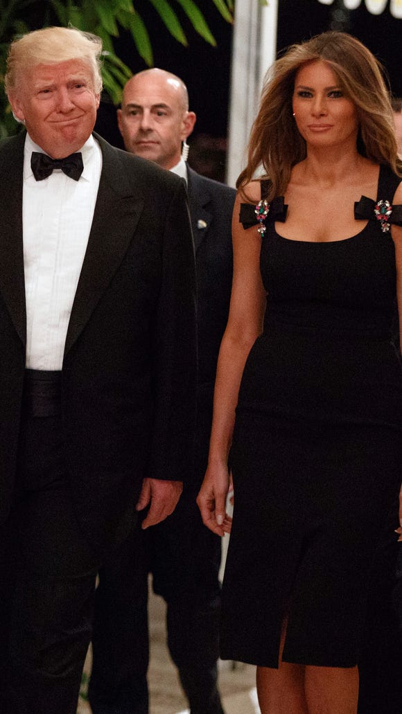 President-elect Donald Trump, left, and his wife Melania
