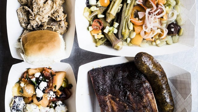 Buxton Hall barbecue and 12 Bones are the two Asheville restaurants in the running for best 'cue sandwich in the state.