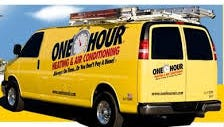 One Hour Heating & Air Conditioning truck