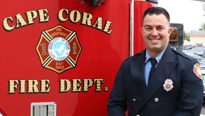 Cape Coral firefighter Michael Camelo Jr. died Thursday after suffering a brain aneurysm.