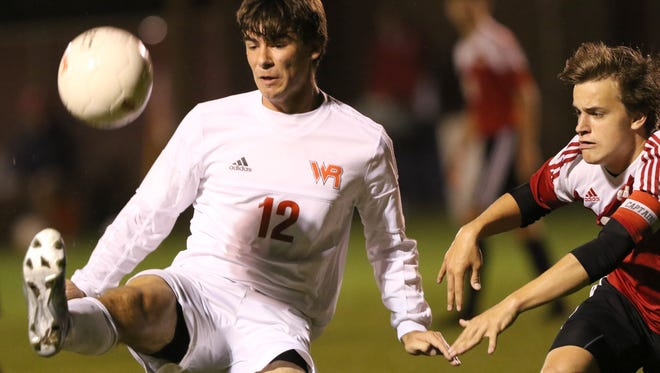 Jack Kiiskila controls the ball for Wisconsin Rapids, which is a No. 6 seed in Division 1 for the WIAA boys soccer postseason. The Raiders travel to De Pere for a regional semifinal Thursday.