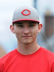 """Cory Heitler, who once wore a """"C"""" on his cap with the Fair Lawn Cutters, hopes to try on a similar hat after being selected by the Cincinnati Reds in the 2018 MLB Draft."""