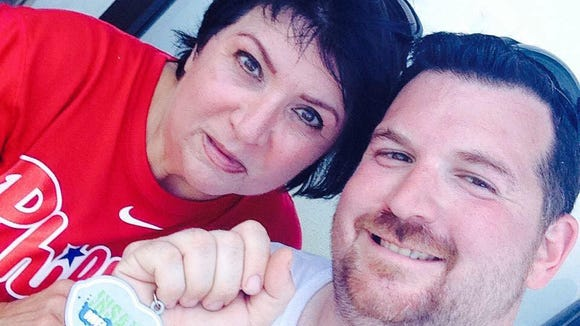 Ryan McIntire, a Washington Township man with MS, finished his first 5K last year with his mom Denise Caruso at his side. Saturday she joins him on the course for a National MS Society-sponsored run.