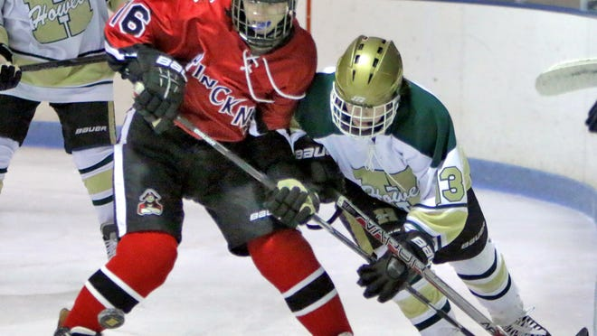 Howell's Hunter Hirzel, right, had six points in an 8-0 win over Pinckney on Saturday.