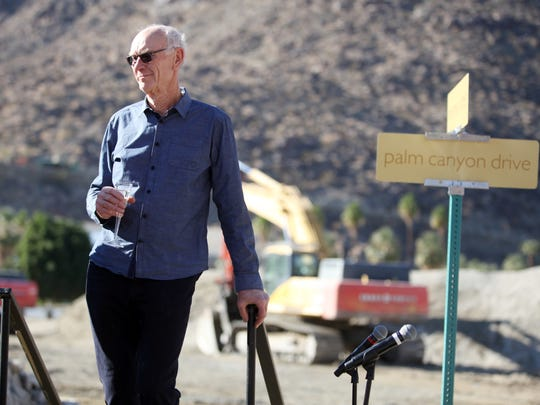 John Wessman, the longtime leader of Wessman Development, attends the groundbreaking ceremony for the Desert Fashion Plaza redevelopment project. Wessman stepped down from the company in February, following public corruption charges. Wessman Development has changed its name to Grit Development.
