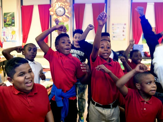 Memphis' Cherokee Elementary School students sing and