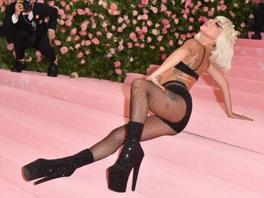 Singer/actress Lady Gaga arrives for The 2019 Met Gala.