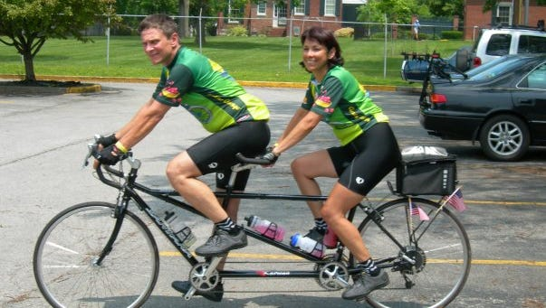 The Ridgeland OBO Tandem Rally is coming this April. Ashton and Renee Page started riding tandem 10 years ago, about six months before they were married.