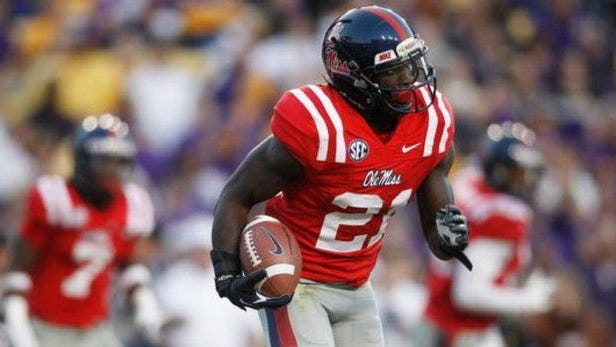Senquez Golson wasn't ejected from Saturday's game against Memphis despite pushing the helmet off the head of Tigers defensive back Fritz Etienne. Rebels kicker Gary Wunderlich was instead ejected for fighting.