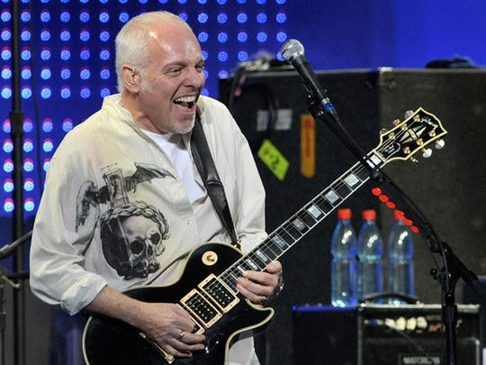 "Peter Frampton celebrates the 35th anniversary of his iconic album, 'Frampton Comes Alive.,"" in 2012."