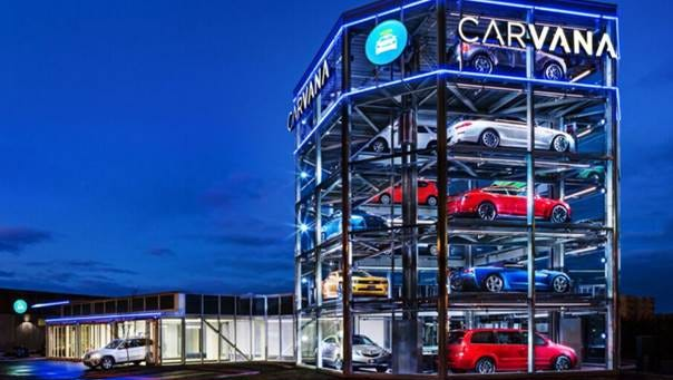 Carvana's vending machine for buying used cars in Nashville.