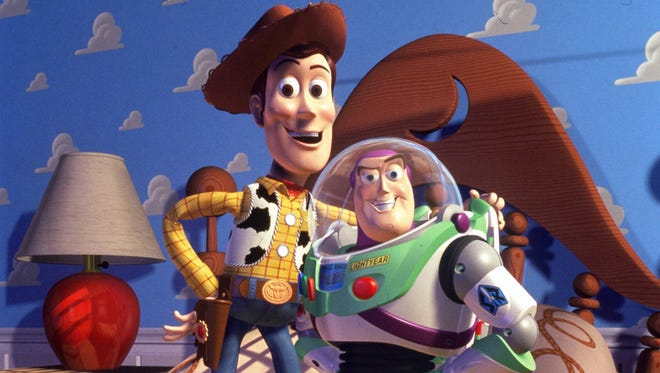 """Toy Story"" featuring the animated characters Woody and Buzz, remains the most beloved Pixar movie."