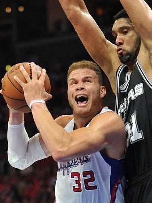 Blake Griffin had a memorable duel with Tim Duncan, but a few of his mistakes were costly.