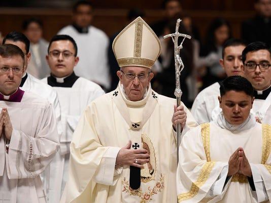 VATICAN-POPE-MASS-VIRGIN-GUADALUPE