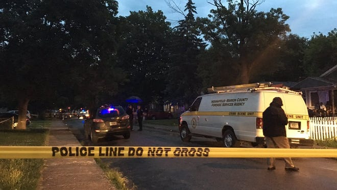 Indianapolis Metropolitan Police responded to the 1100 block of Medford Avenue just after 8 p.m. Wednesday, July 12, 2017, where one person was killed and another injured.