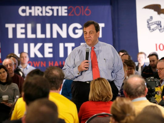 Republican presidential candidate, New Jersey Gov.