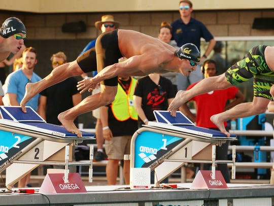 Nathan Adrian will compete against a deep field in