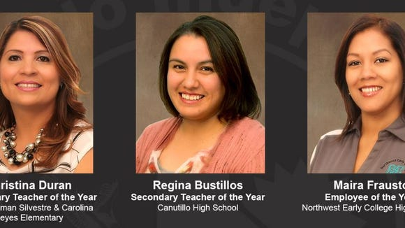 Canutillo Independent School District Teachers of the Year for 2016-2017
