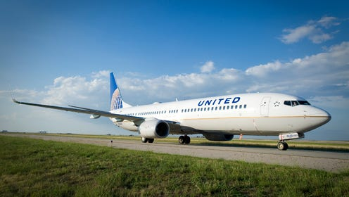 United Boeing 737 at Houston's Bush Intercontinental Airport on Sept. 25, 2010