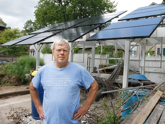 n y man erects solar panels as testament to waste