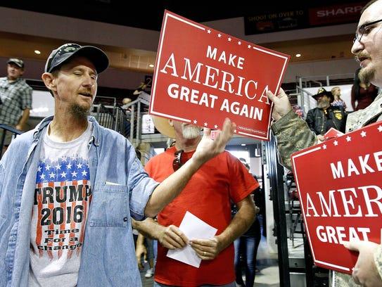 Seguidores de Trump durante el discurso que el magnate