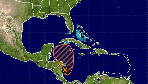 Weather disturbance in western Caribbean Sea could bring rains to Florida