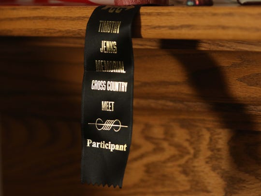 A participant ribbon from the Timothy Jenks Memorial