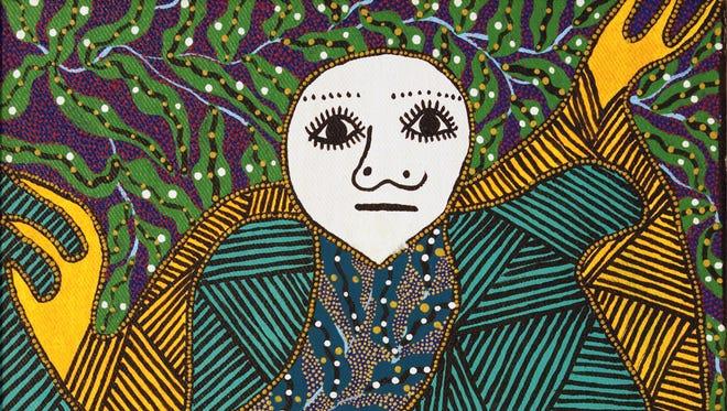 "Levoy Exil's 1994 painting ""Loa/Dream Interpretation"" is part of FGCU's permanent art collection."