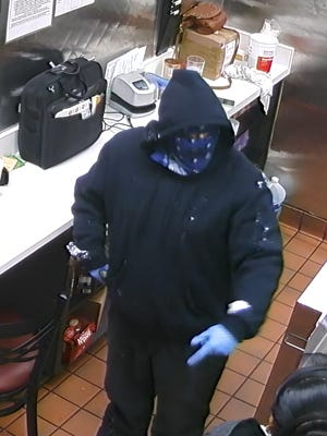 This man, carrying a handgun, attempted to rob D'Nicio's Parlour in Emmett Township on Saturday