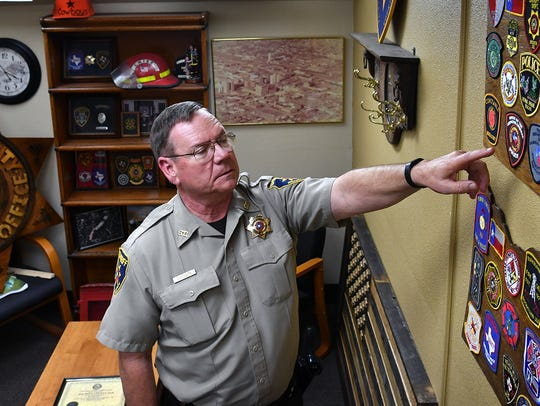 Chief Deputy Derrald Choate talks about a collection