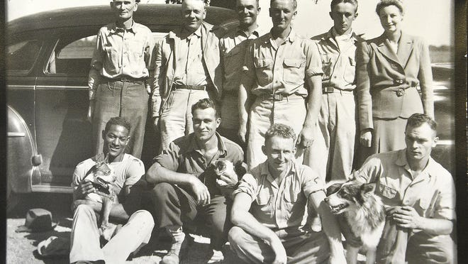 This photo shows Erich Thimmann seated second from the left. After returning to Germany, Thimmann wrote to the Brocks, a wealthy Lawrenceburg, Tenn., family that employed many German prisoners of war.