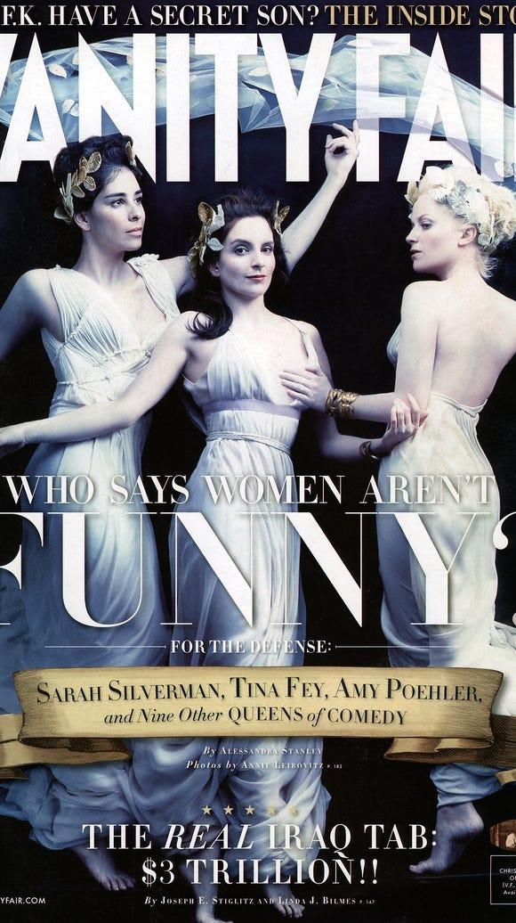 Sarah Silverman, Tina Fey, and Amy Poehler on the April