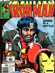 """The Iron Man """"Demon in a Bottle"""" storyline dealt with a superhero struggling with alcoholism."""