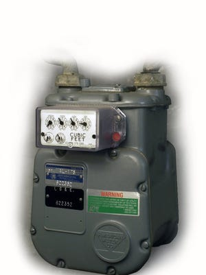 A home natural gas meter