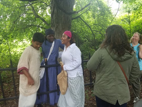 The character of Harriet Tubman, played by Veronica Carter, unites with our group, giving advice and inspiration on the way. The first public show was performed July 22, and more are planned for July 27, 28 and 29. Daytime shows will be held from 2:30 to 4 p.m. on the 28 and 29. Evening shows are planned for 6:30 to 8 p.m. on July 27 and 28.