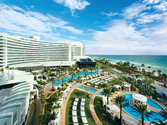 The Fontainebleau Miami Beach is the second most in demand hotel in Miami, according to Expedia.