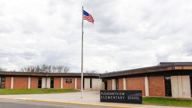 Pleasantview Elementary School, photographed Sunday, April 17, 2016, requires the most maintenance and is the district's most expensive school to maintain in Sauk Rapids.