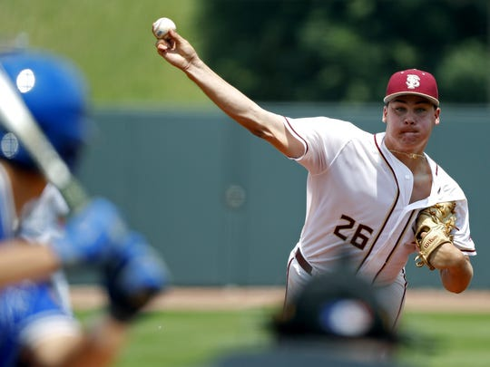 Florida State sophomore starter Cole Sands surrendered two hits in 6 2/3's scoreless innings while striking out a career-high eight batters.