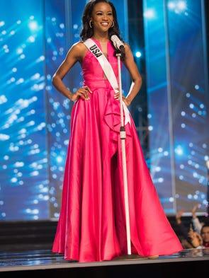 Miss USA Deshauna Barber was among the 13 finalists