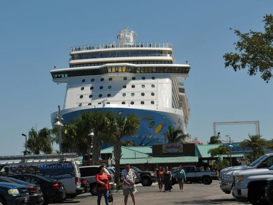 """The area known as """"The Cove"""" at Port Canaveral, where"""