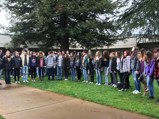 Enterprise High School students participate in Wednesday's