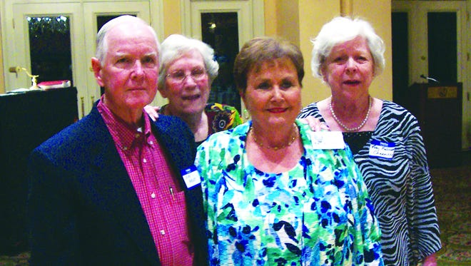 Members of the Sidney Lanier High School class of 1954 at the reunion were Alex Ansley, Ann Pierce O'Neal, Mary E. Williams Godbold and Patsy Paterson Chappelle.