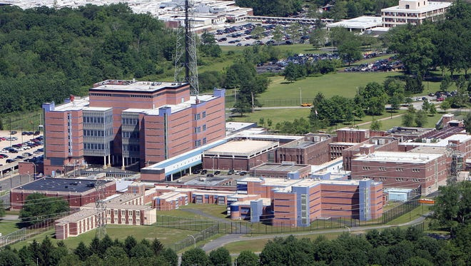 This June 19, 2008 photo shows the Westchester County jail in Valhalla, N.Y.